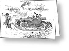 Automobile, 1914 Greeting Card