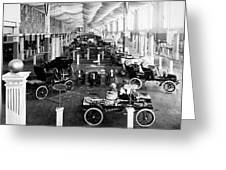 Automobile Display, 1904 Greeting Card