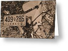 Automobile Graveyard Greeting Card