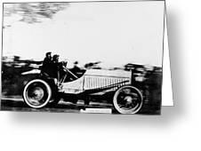 Automobile Racing, 1905 Greeting Card