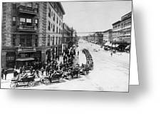 Automobile Transportationa Row Greeting Card