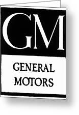 Automobiles Gm Logo Greeting Card