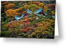 Autum In Japan Greeting Card