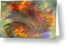 Autumn Ablaze - Square Version Greeting Card
