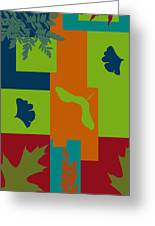 Autumn Abstract A La Matisse Greeting Card