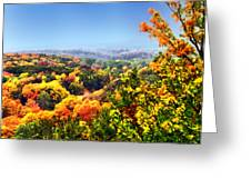 Autumn Across The Hills Greeting Card