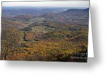 Autumn Across The Shenandoah Greeting Card
