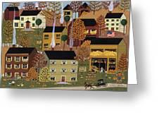 Autumn Afternoon Greeting Card by Medana Gabbard