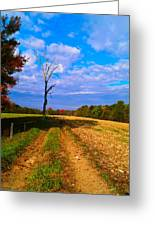 Autumn And The Tree Greeting Card
