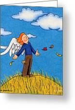 Autumn Angel Greeting Card