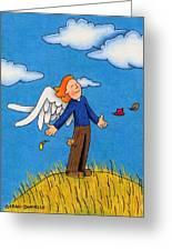 Autumn Angel Greeting Card by Sarah Batalka