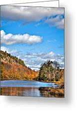 Autumn At Bald Mountain Pond Greeting Card