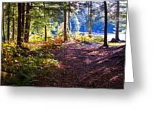 Autumn At Cary Lake Greeting Card