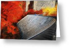 Autumn At Chicago Millennium Park Bp Bridge Mixed Media 03 Greeting Card