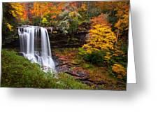 Autumn At Dry Falls - Highlands Nc Waterfalls Greeting Card