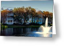 Autumn At Old Key West Resort Panorama Walt Disney World Greeting Card
