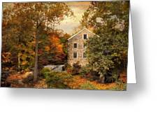 Autumn At Stone Mill Greeting Card