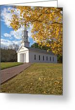 Autumn At The Chapel Greeting Card by Gordon  Grimwade
