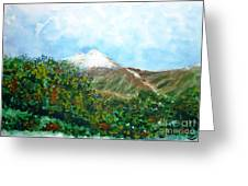 Autumn At The Foot Of Mount Elbrus Greeting Card