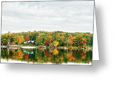 Autumn At The Lake - Pocono Mountains Greeting Card by Vivienne Gucwa