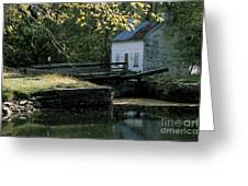 Autumn At The Lockhouse Greeting Card