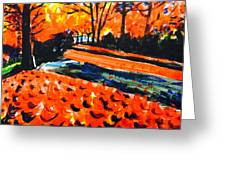 Autumn At The Park. Greeting Card