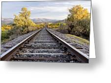 Autumn At The Railroad Greeting Card