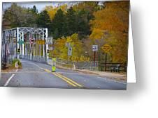 Autumn At Washington's Crossing Bridge Greeting Card