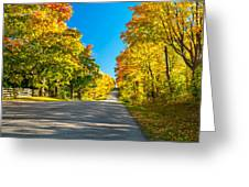 Autumn Back Road Greeting Card