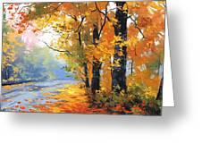 Autumn Backlight Greeting Card
