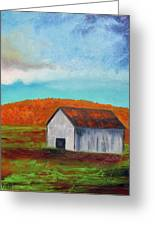 Autumn Barn In Color Greeting Card