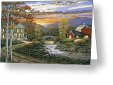 Autumn Barn Greeting Card by John Zaccheo