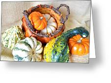Autumn Basketful Greeting Card