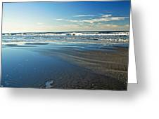 Relaxing Autumn Beach  Greeting Card