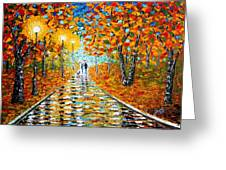 Autumn Beauty Original Palette Knife Painting Greeting Card
