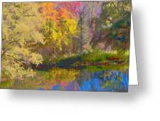 Autumn Beside The Pond Greeting Card