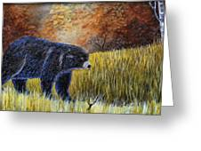 Autumn Black Bear Greeting Card
