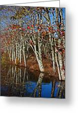 Autumn Blue Greeting Card