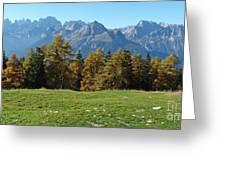 Autumn - Brenta Dolomites Greeting Card