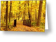Autumn Bridge II Greeting Card