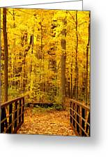 Autumn Bridge V Greeting Card
