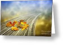 Autumn Bridge Greeting Card by Veikko Suikkanen