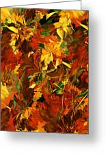 Autumn Burst Greeting Card