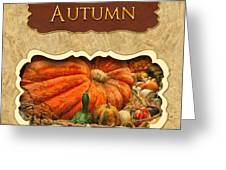 Autumn Button Greeting Card by Mike Savad