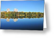 Autumn By The Triangle Lake In Stockholm Greeting Card