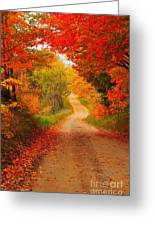 Autumn Cameo Greeting Card by Terri Gostola