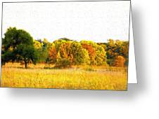 Autumn Canvas Greeting Card