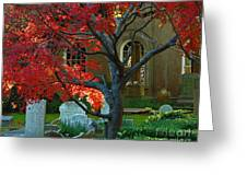 Autumn Charleston Churchyard Greeting Card