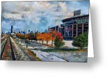 Autumn Chicago White Sox Us Cellular Field Mixed Media 03 Greeting Card