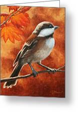 Autumn Chickadee Greeting Card